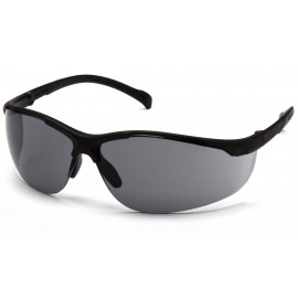 Pyramex  Gravex  Black Frame/Gray Lens  Safety Glasses  12/BX