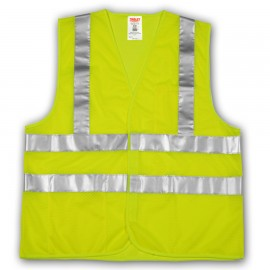 Tingley V70722.2X-3X Class 2 Vest Fluorescent Yellow-Green Polyester Mesh Hook & Loop