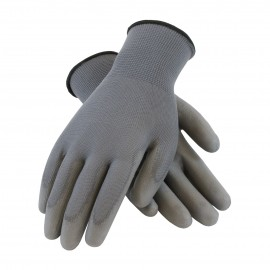 PIP 33-G125/S G-Tek Seamless Knit Nylon Glove with Polyurethane Coated Smooth Grip on Palm & Fingers Small 25 DZ