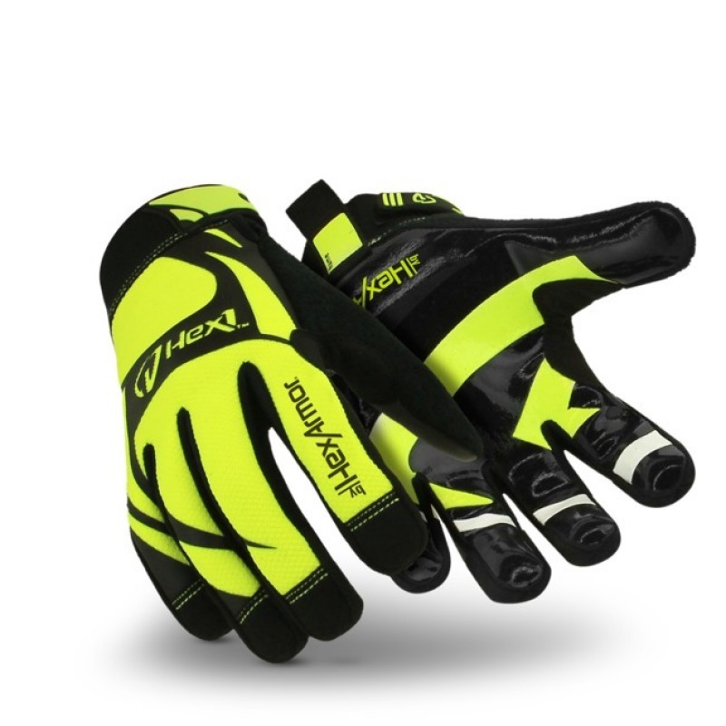HexArmor Hex1 2122 Working Gloves Hi Vis Yellow Color - 1 Pair