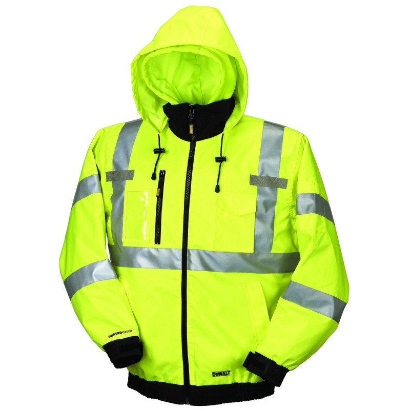 6e6c672c49 Dewalt High Visibility Class 3 Three-in-one Heated Jacket Yellow Color - 1    Box