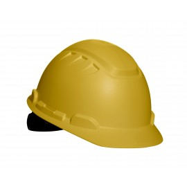 3M™ Elevated Temperature Hard Hat, Yellow 4-Point Ratchet Suspension H-702T, 10 ea/cs