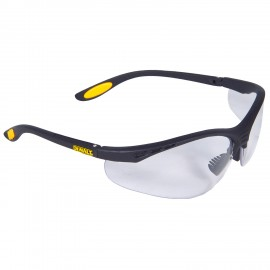 DEWALT Reinforcer- Clear Anti-Fog Lens Safety Glasses Half Frame Style Black Color - 12 Pairs / Box