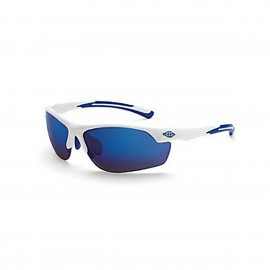 Crossfire AR3 Safety Glasses - Blue Mirror Lens, White Frame  (1 DZ)