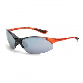 Radians Cobra Silver mirror Blackburnt Orange Frame Safety GlassesBurnt Orange 12 PR/Box