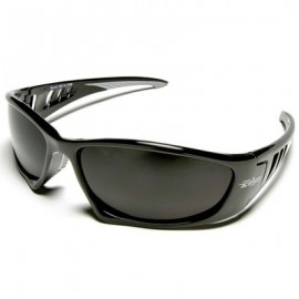 Edge Baretti Wrap Around Safety Glasses - Smoke Lens
