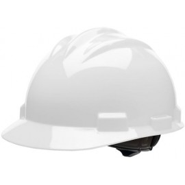 Bullard® White HDPE Cap Style Hard Hat With 4 Point Rachet Suspension