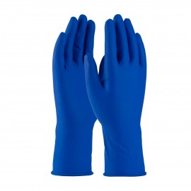 PIP 62-327PF/M Ambi-Thix Medical Grade Disposable Latex Exam Glove, Powder Free with Fully Textured Grip - 13 Mil Medium