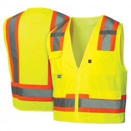 Pyramex Lumen X Hi-Vis Lime -Self Extinguishing - Size 2X Large
