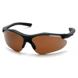 Pyramex  Fortress  Black Frame/Coffee Lens  Safety Glasses  12/BX