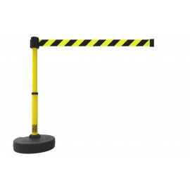 Banner Stakes PL4091 PLUS Barrier Set, Yellow/Black Diagonal Stripe