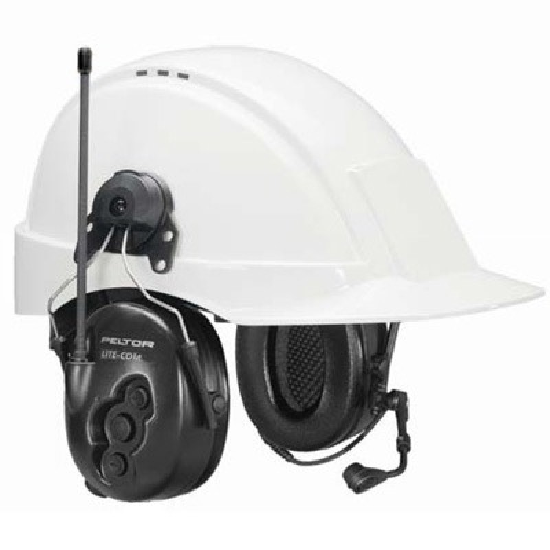 Peltor LiteCom MT53H7P3E4900 2-Way Radio Headset - Hard Hat Mount Model