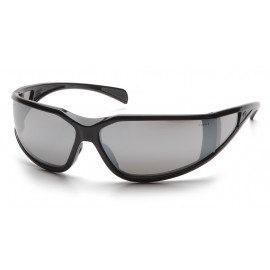 Pyramex  Exeter  Glossy Black Frame/Silver Mirror AntiFog Lens  Safety Glasses  12/BX