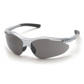 Pyramex  Fortress  Silver Frame/Gray Lens  Safety Glasses  12/BX