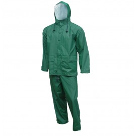 Tingley S66218.MD Storm-Champ Suit 2 Pc Jacket Zipper Front with Hood Plain Front Waist Pants