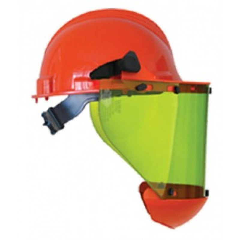 Salisbury AS1000HAT Hard Hat  with Face Shield Polyethylene Material Orange Color One Size - 1 / EA