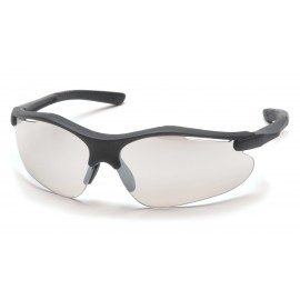 Pyramex  Fortress  Black Frame/Indoor/Outdoor Mirror Lens  Safety Glasses  12/BX