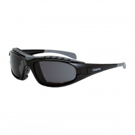 Radians Diamondback Smoke AntiFog Black Safety Glasses 12 PR/Box