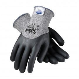 G-Tek CR Ultra Seamless Knit Dyneema / Nylon Glove with Nitrile Coated Foam Grip on Palm, Fingers & Knuckles