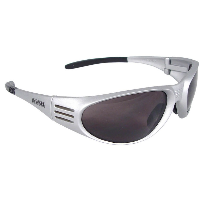 DEWALT Ventilator - Smoke Lens - Silver Frame Safety Glasses Full Frame Style Silver Color - 12 Pairs / Box