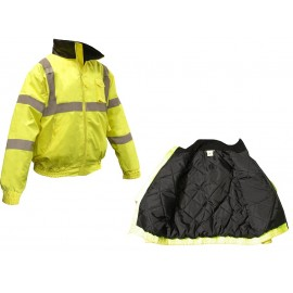 Radians High Visibility Quilted Bomber Jacket