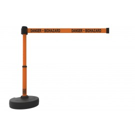 "Banner Stakes PL4101 PLUS Barrier Set, Orange ""Danger - Biohazard"""