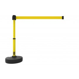 Banner Stakes PL4092 PLUS Barrier Set, Blank Yellow Banner
