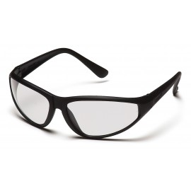 Pyramex Safety - Zone - Black Frame/Clear Lens Polycarbonate Safety Glasses - 12 / BX