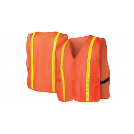 Pyramex RV100 Series Non Rated Safety Vests Polyester Hook and Loop closure One Size - 12 / Box
