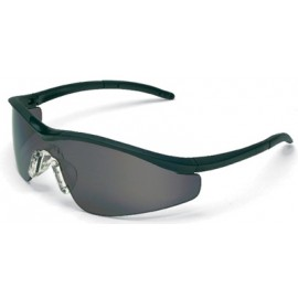 MCR Triwear Safety Glasses with Onyx Frame and Grey Anti-Fog Lens