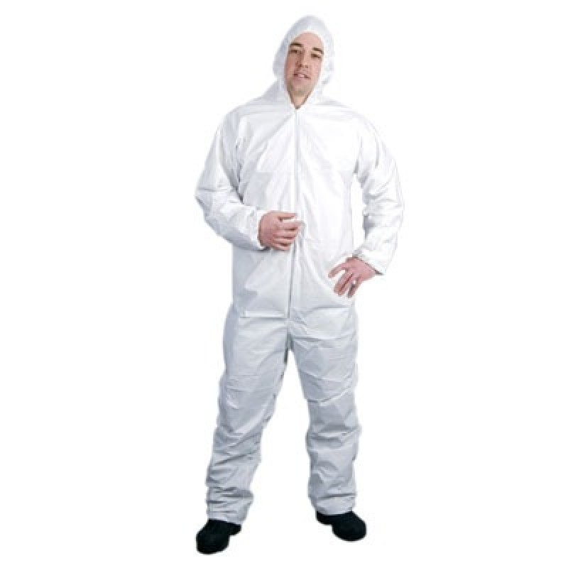 Lakeland CTL428 MicroMax Coveralls with Hood, Elastic Wrists and Ankles  White Color 25/Case