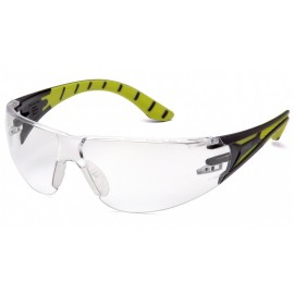 Pyramex  Endeavor Plus  BlackGreen Frame/Clear Lens  Safety Glasses  12/BX