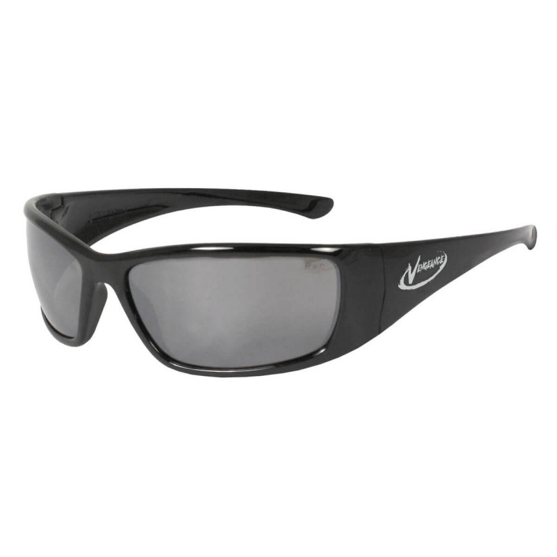 Radians Vengeance - Silver Mirror - Black Frame Safety Glasses  Style  Color - 12 Pairs / Box