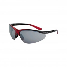 Radians Brigade Black/Red Silver Mirror Safety Glasses/Red 12 PR/Box