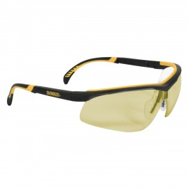 DEWALT DC- Indoor/Outdoor Lens Safety Glasses Half Frame Style Black Color - 12 Pairs / Box