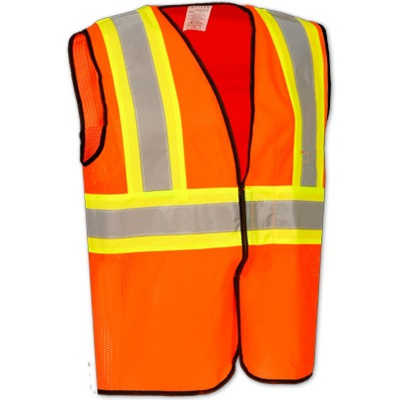 Occunomix High Visibility Value Mesh Two-Tone Safety Vest Class 2   ECO-GC2T