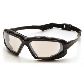 Pyramex  Highlander Plus  BlackGray Frame/IndoorOutdoor Mirror AntiFog Lens  Safety Glasses  12/BX