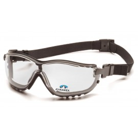 Pyramex  V2G Readers  Black Frame/Clear Anti Fog +2.5 Les Polycarbonate Safety Glasses  6 / BX