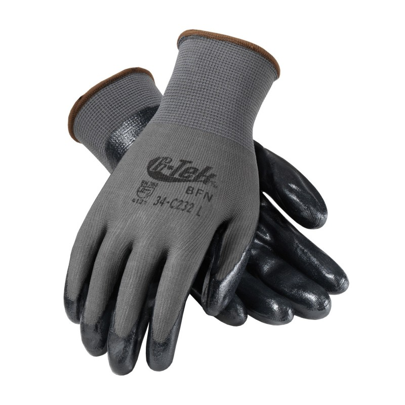 PIP G-Tek  Foam Nitrile Coated Glove Black Color - 12 Pairs