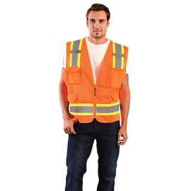 Occunomix Value Two-Tone Surveyor Mesh Vest ECO-ATRNSM Class 2