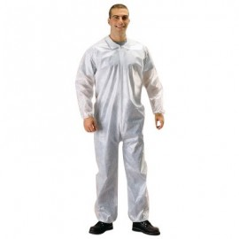 Malt Industries 1230 PE-Coated Coverall with Elastic Wrists & Ankles (25/Case)
