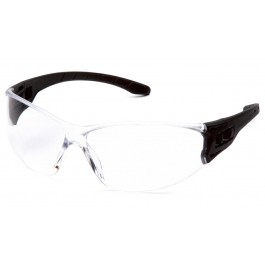 Pyramex Safety - Trulock - Black frame/ Clear len Polycarbonate Safety Glasses - 12 / BX