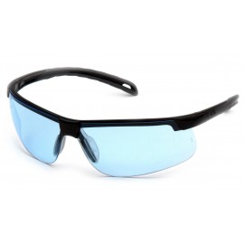 Pyramex  EverLite  Black Frame/Infinity Blue H2X AntiFog Lens  Safety Glasses  12/BX