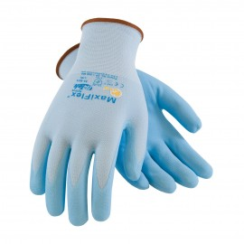 PIP 34-824/L ATG Seamless Knit Nylon / Lycra Glove with Ultra Lightweight Nitrile Coated MicroFoam Grip on Palm & Fingers Large 12 DZ