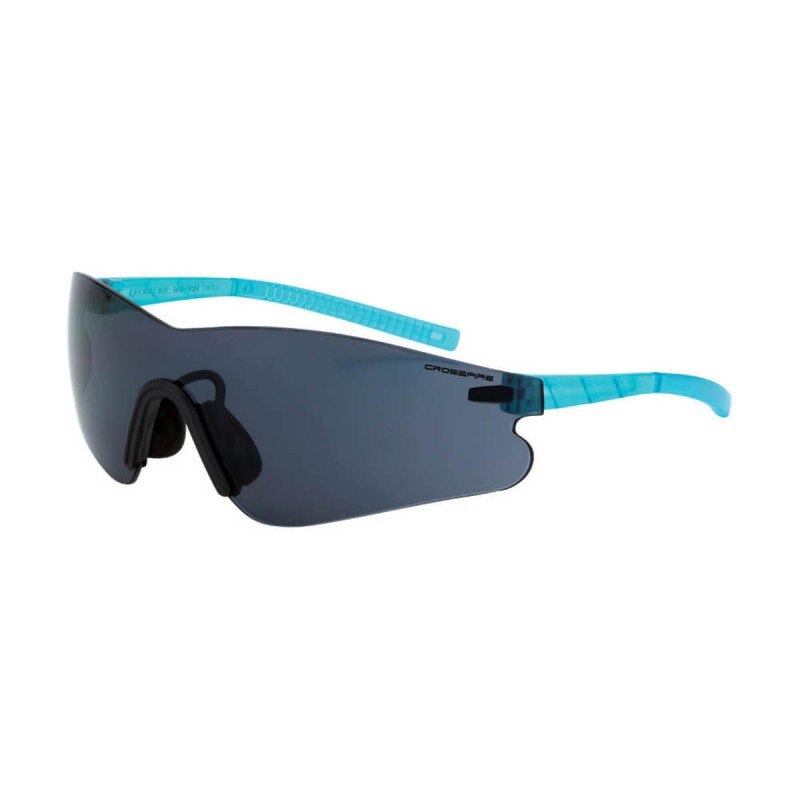 Radians Mini Blade Smoke AntiFog Aqua Safety Glasses 12 PR/Box