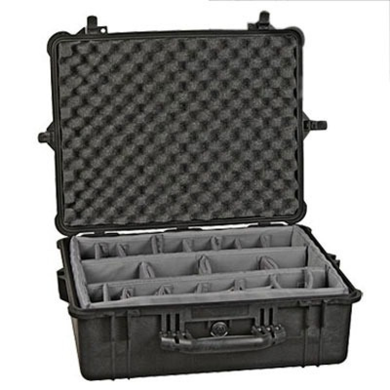 Pelican 1600 Case with Padded Dividers