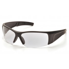 Pyramex  PMXTORQ  Matte Black Frame/Clear Lens  Safety Glasses  12/BX