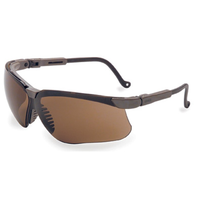 Genesis Safety Glasses with Earth Frame and Espresso Lens ...