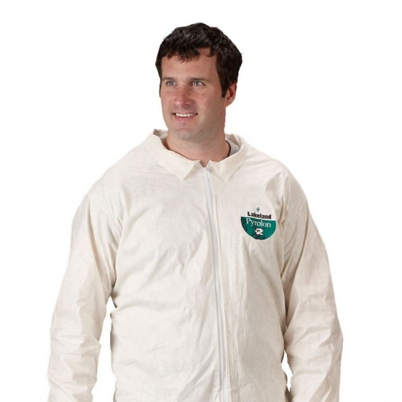 Lakeland Pyrolon Plus 2 Disposable Coveralls with Collar and Zipper (25 Per Case)