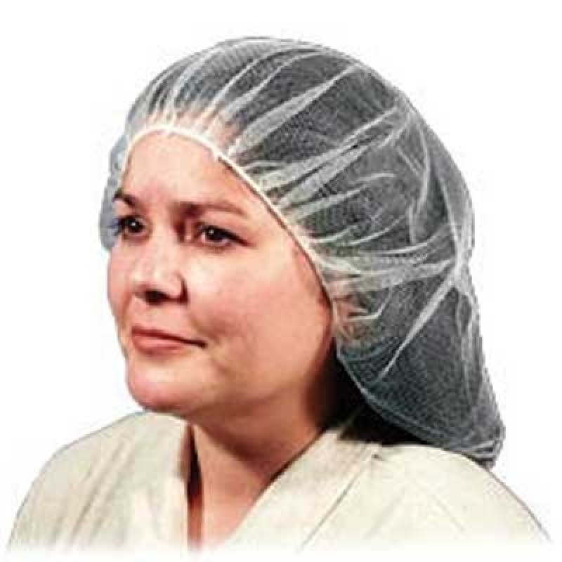 "Malt Industries  24"" Hairnet, White Color  (10 Bags Per Case)"